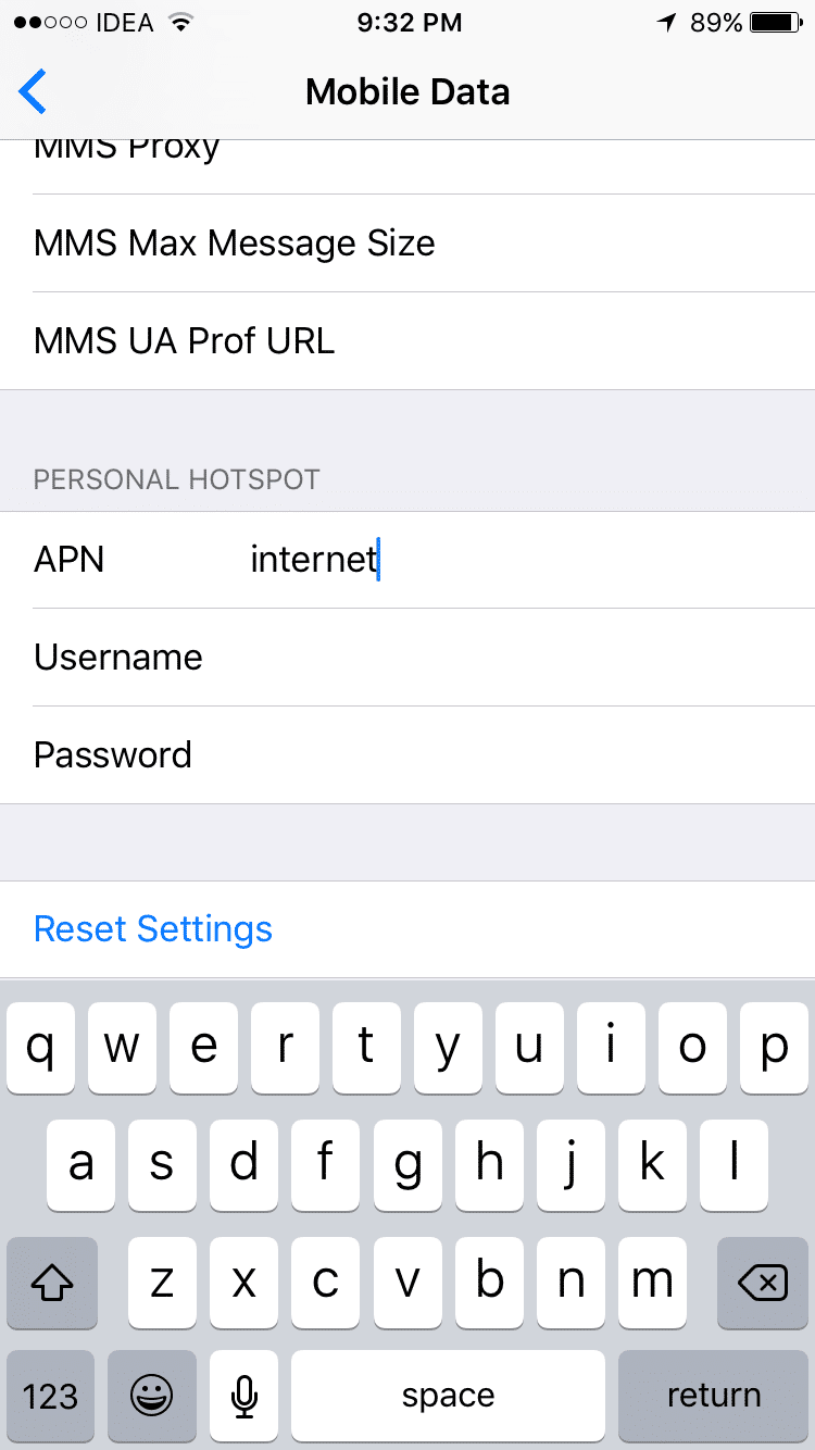 Personal Hotspot missing on iPhone 6s - Grepitout