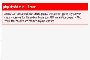 Cannot start session without errors