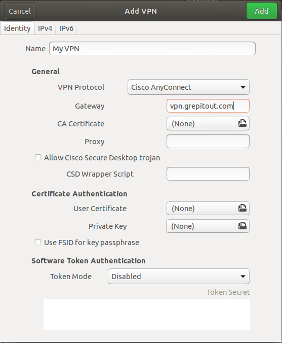 OpenConnect Configuration