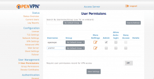 User creation openvpn