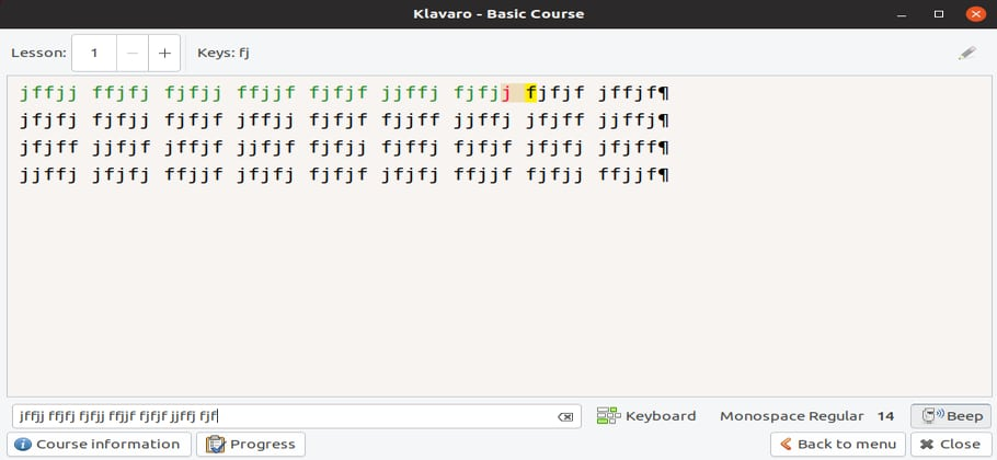 Install Klavaro