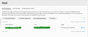 email forwarding in plesk