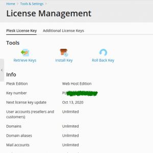 plesk license key