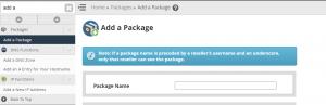 add package1